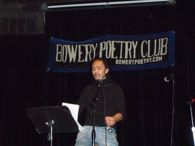 Realuyo Bowery Poetry Club 2008