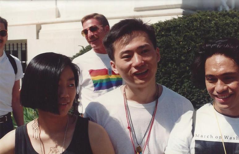 Realuyo, Joo-Huyn Kang and Curtis Chin March on Washington 1992