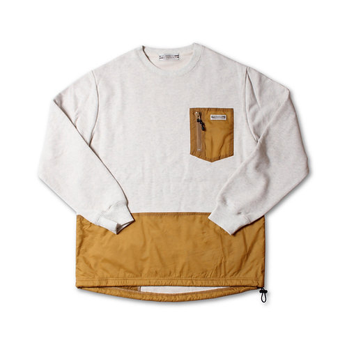 811604(WD21SS-09) ナイロン切替クルーネック  ¥6.900