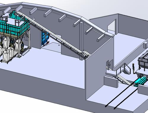 Two big-bag filling stations