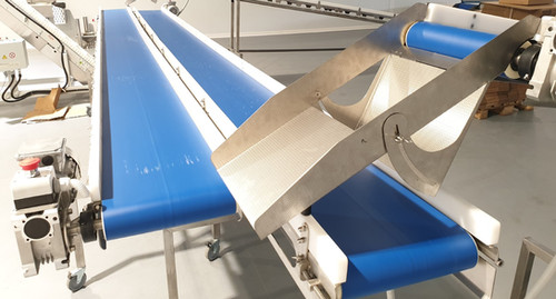 flow crossing removable conveyors
