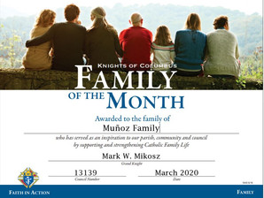 Jo and Angel Munoz Named Family of the Month for March