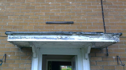 Door Canopy Before