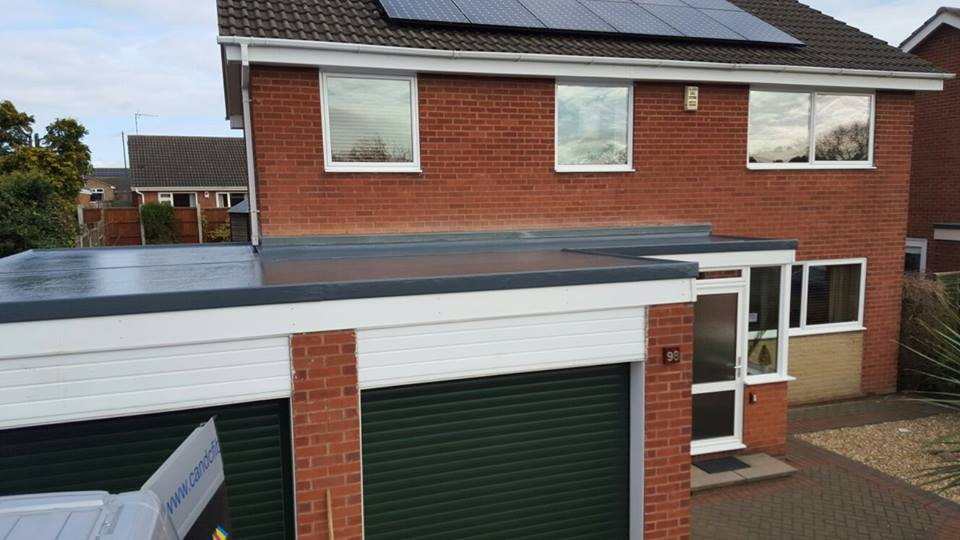 fibreglass flat garage roof in nottingham