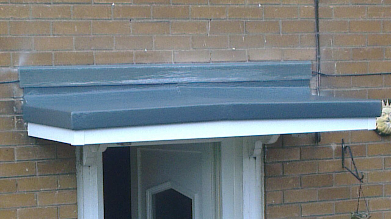 door canopy after