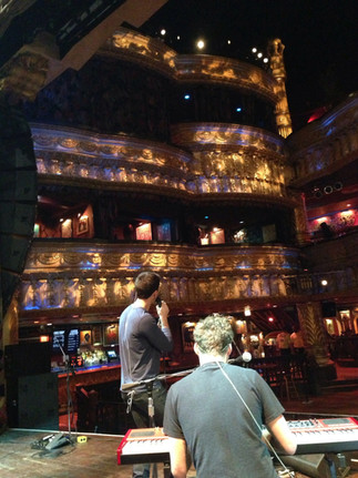 "Soundcheck at the Chicago House of Blues, opening for ""Wanting""."