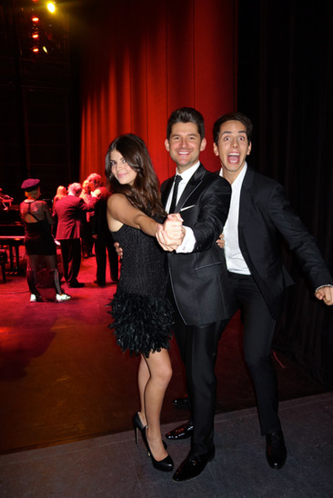 """Cody with Matt Dusk and Nikki Yanofsky at the annual """"Its Always Something"""" variety show in Toronto."""