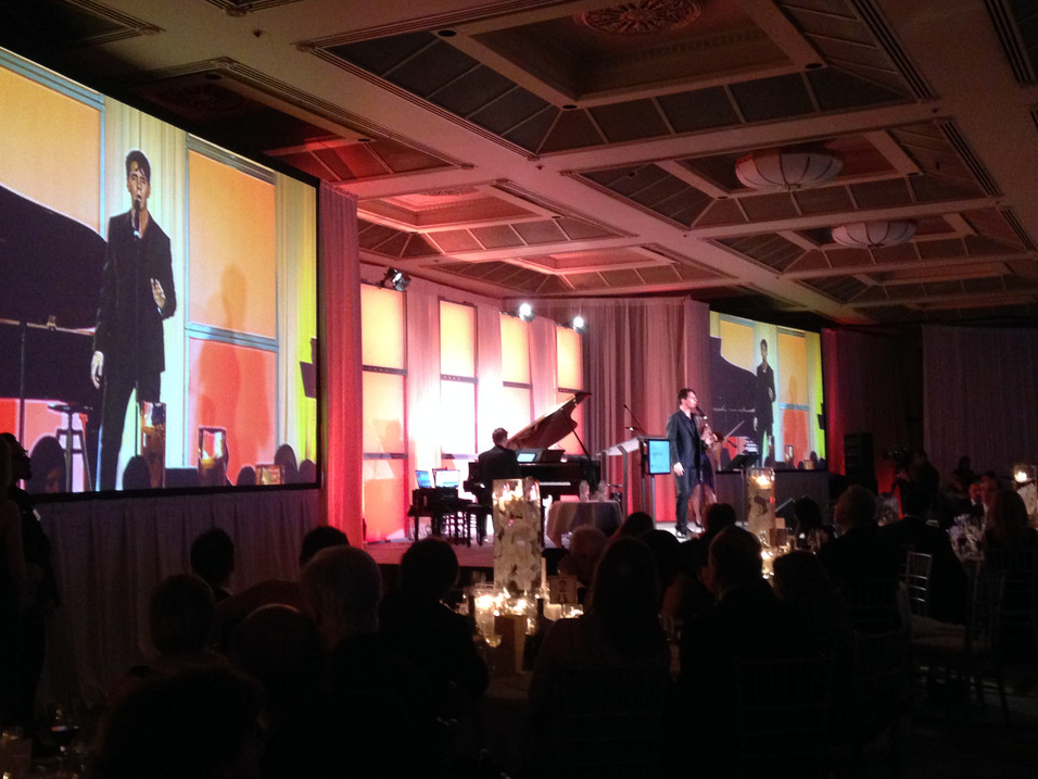 Cody live on-stage at a Vancouver Gala.