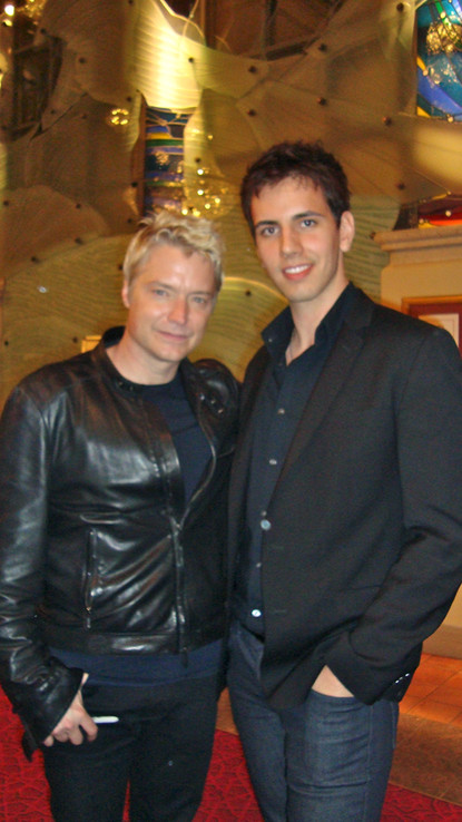 Cody meets one of his instrumental idols, Chris Botti, after a show in Vancouver.