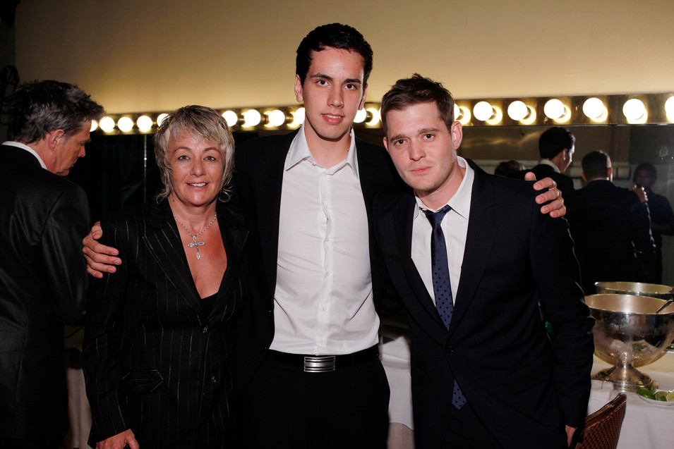 Backstage at the Heart Foundation Gala in LA with Michael Bublé, David Foster and former manager Su Bailey.