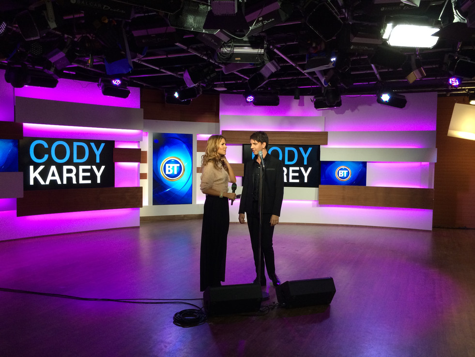 Cody appears on Canada's Breakfast Television while touring to support his debut album.
