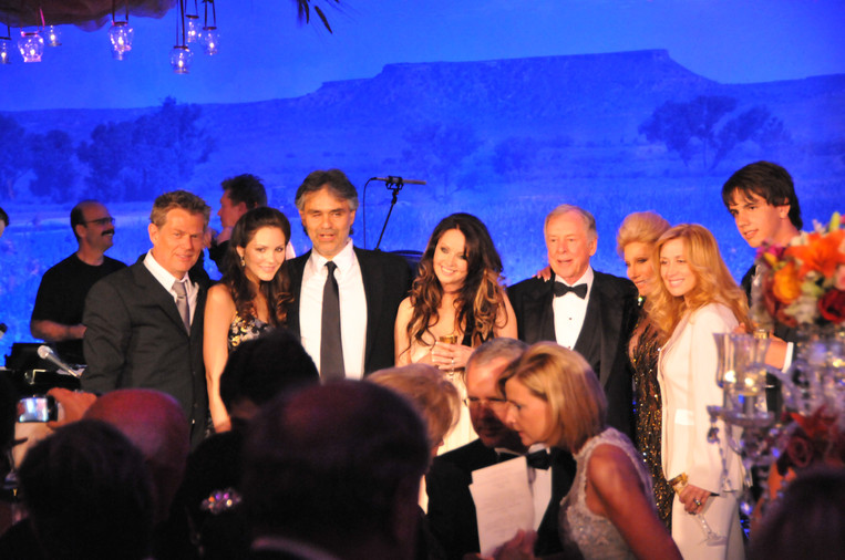 Young Cody in Dallas with some of his idols! David Foster, Katherine McPhee, Andrea Bocelli, Sarah Brightman, and Lara Fabian. (also pictured, T. Boone Pickins)