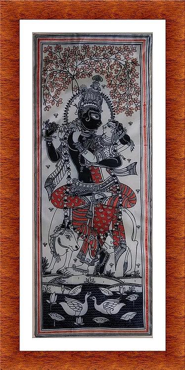 Krishna Radha Orissa Pattachitra