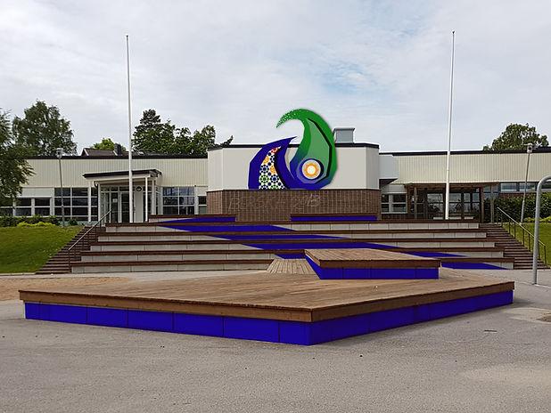 Skissförslag till Bergska skol, Finspång