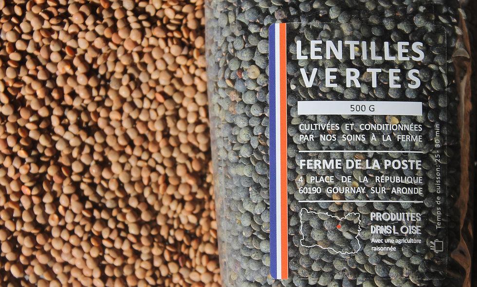 Lentilles vertes - 500g