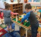 Preschool aged students learn through play at Noah's Ark Children's Center