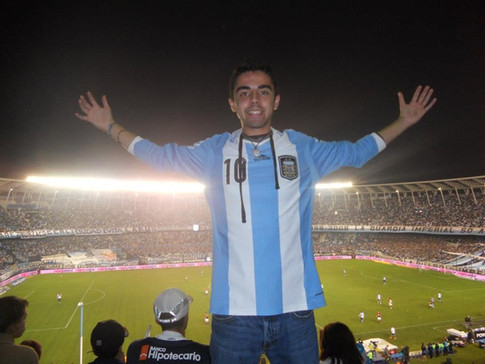 My first Argentina soccer game