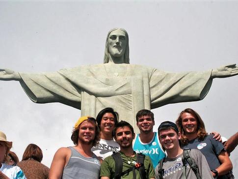 At Christ the Redeemer statue in Rio de Janiero, Brazil