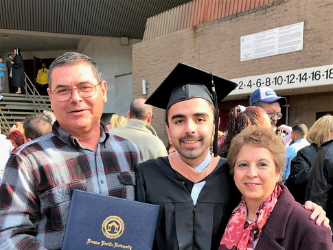 My parents, the real ones who deserve the Masters in Business Administration