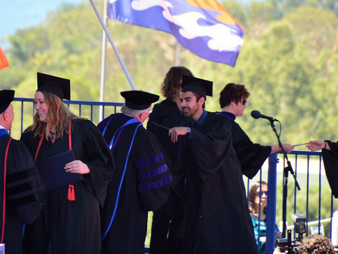 Graduating from Pepperdine University with a B.S. in Business Administration