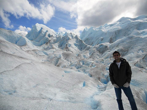 Hiking on a glacier in Patagonia, Argentina during my time studying abroad