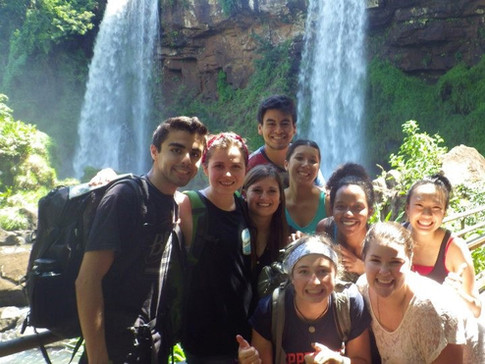 At Iguazu Falls Brazil with friends