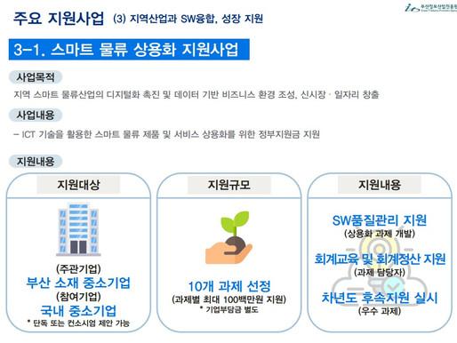 2021. 08. 18 해양드론기술, 부산정보산업진흥원 스마트물류 분야 유망기업 육성/신서비스에 선정