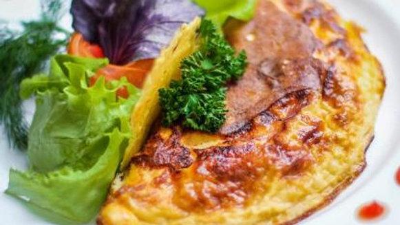 Omelette de Quintoniles con Queso Artesanal