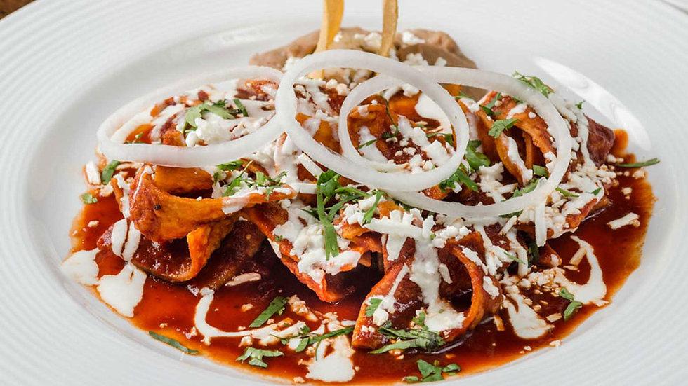 Chilaquiles en salsa roja o verde