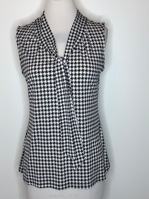 Banana Republic Black White Shirt Medium