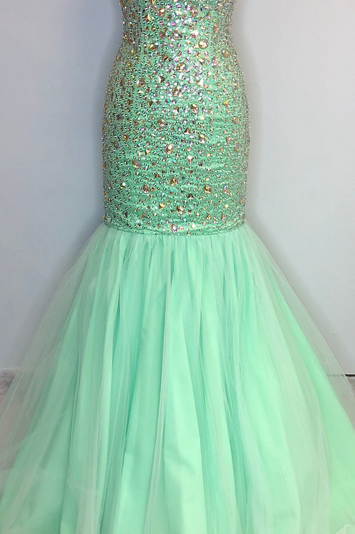 Mori Lee Light Green - Size 8