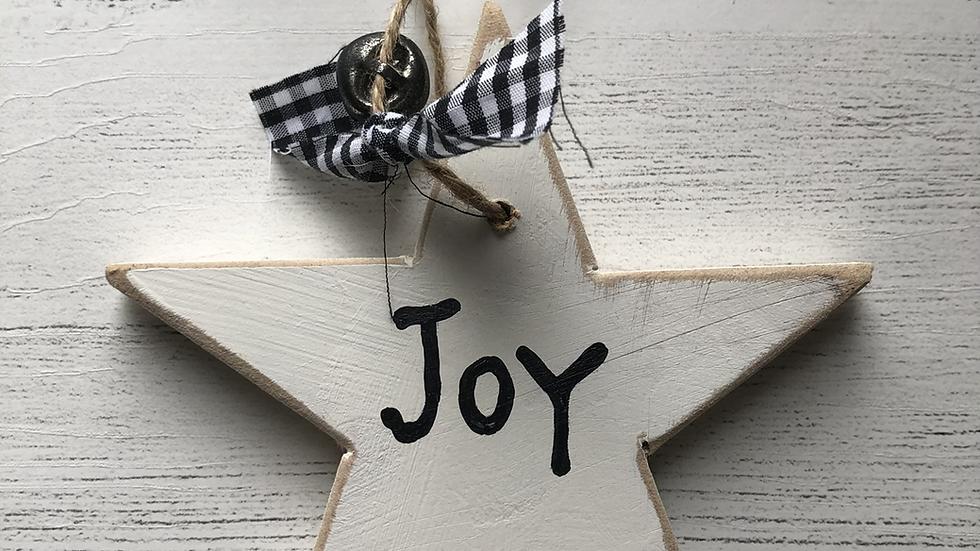 'Noel' Hand Painted Wooden Star