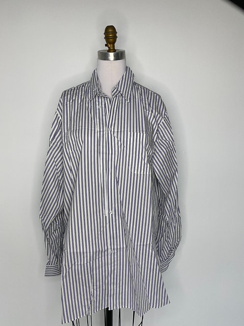 Navy Stripe Top Size Small