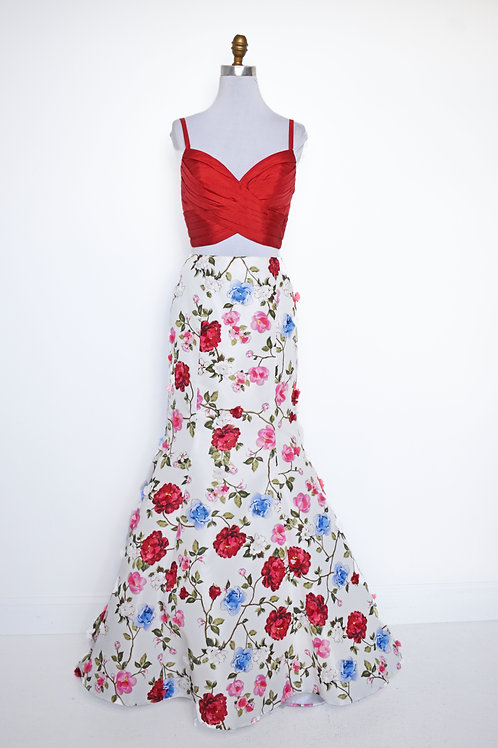 Sherri Hill Floral Two Piece - Size 6
