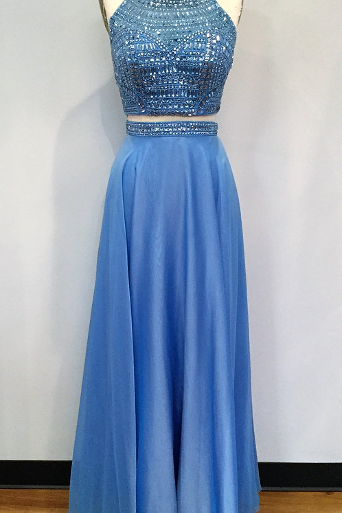 Sherri Hill Blue Two Piece - Size 6