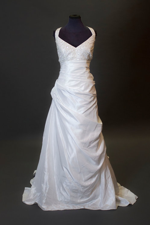David's Bridal White Wedding Gown - Size 18W