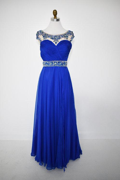 Royal Blue Chiffon - Size 10
