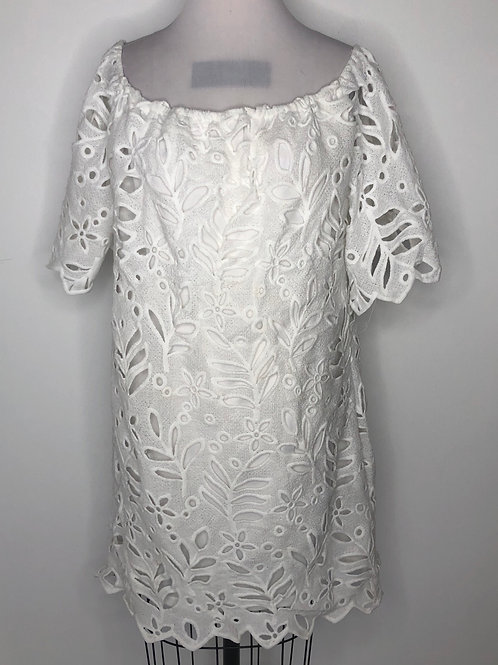 NEW! White Lace Dress Large 12