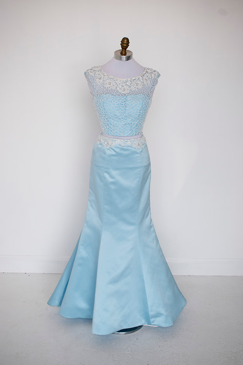Sherri Hill Light Blue - Size 4