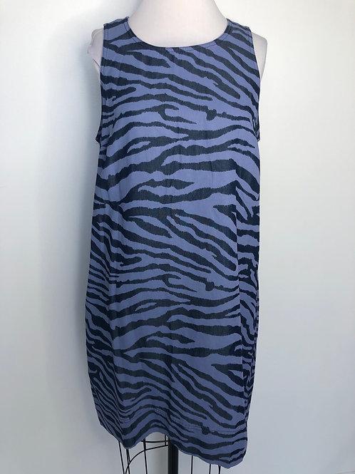 Tommy Bahama Blue Zebra Print Dress Size Medium
