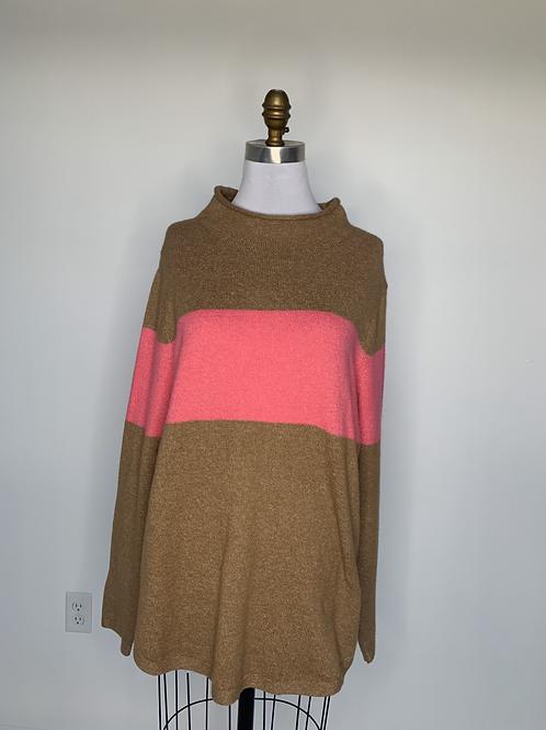 Brown & Pink Sweater - Large