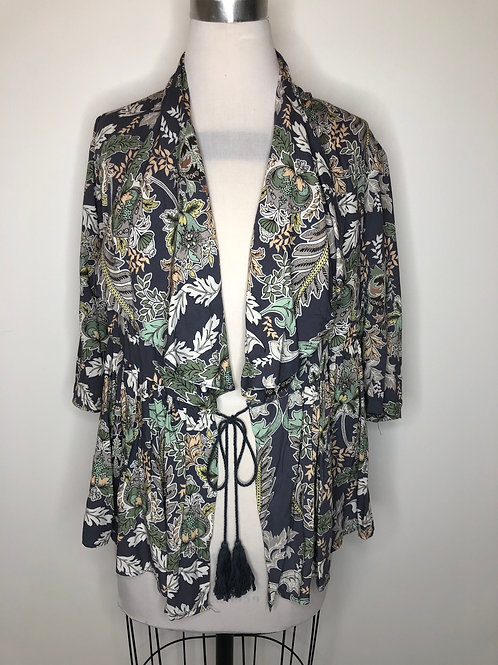 Boutique Navy Print Top Small
