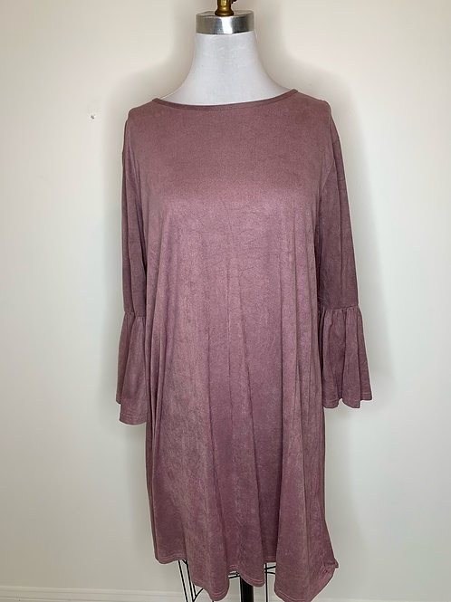 Simply Southern Mauve Suede Dress - Size 12