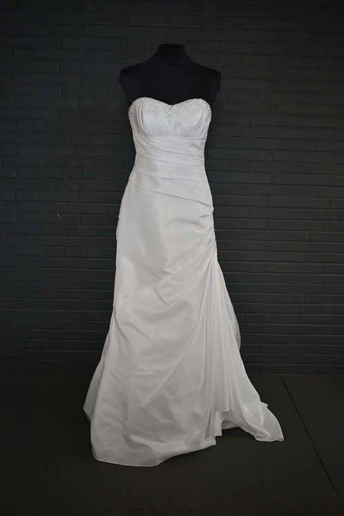 White Taffeta Wedding Gown - Size 4