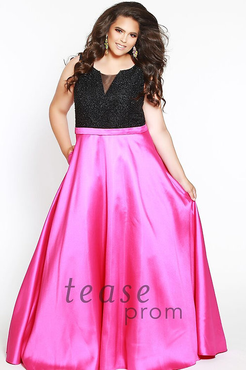 Tease Prom Satin and Black - Sizes 14-40