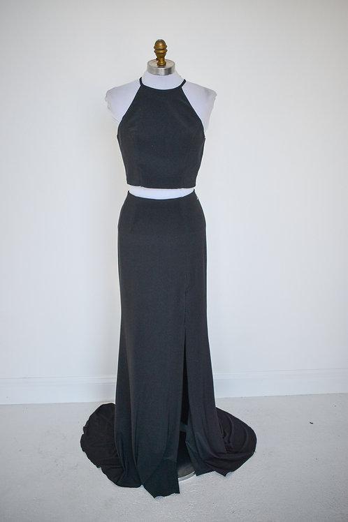 Sherri Hill Black Two Piece - Size 4
