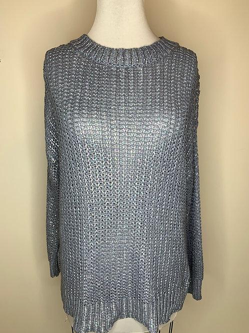 Blue Iridescent Sweater - Size Medium