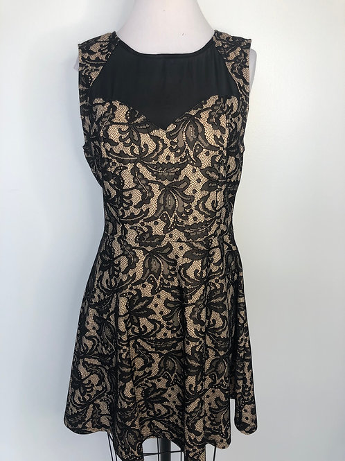 Black and Nude Lace Dress Size 14