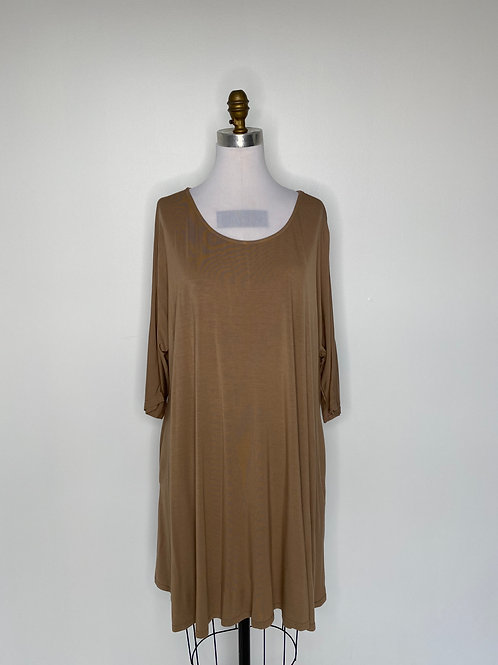 Brown Dress Size Extra Large