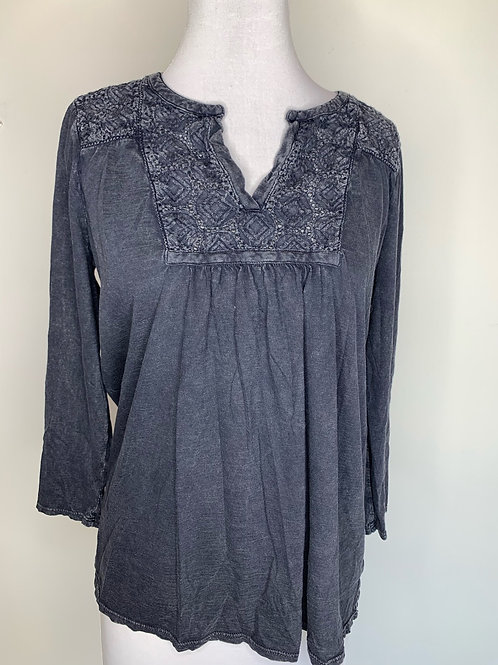 Lucky Brand Navy top - size large